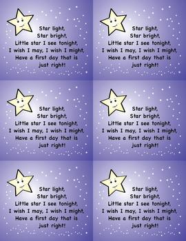 Night Before School Wishing Star