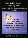 Night Before School Wishing Star