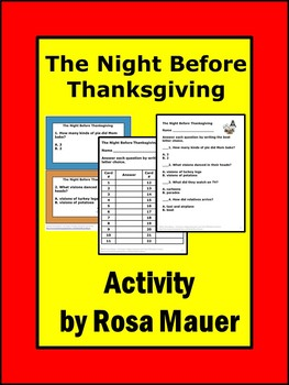 The Night Before Thanksgiving Activities