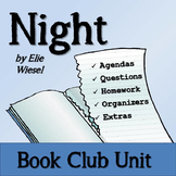 Night by Elie Wiesel Student Book Club Unit of Study