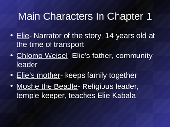 Night By Elie Weisel Chapter Notes and Photos