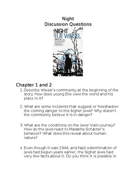 Night By Elie Weisel Discussion Questions