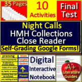 Night Calls 9th Grade HMH Collections Close Reader HRW SELF-GRADING GOOGLE TEST!