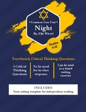 Night Chapter 1 Critical Thinking Questions - Common Core (Elie Wiesel)