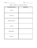 Night- Chapter 3 Vocabulary Packet