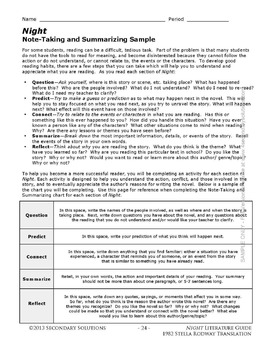 night by elie wiesel lesson activity assessment guide wiesel rodman rh teacherspayteachers com Night Common Core A Midsummer Nights Dream