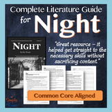 NIGHT by Elie Wiesel Lesson, Activity, Assessment Guide Wi