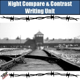 Night Elie Wiesel Compare and Contrast Writing Unit