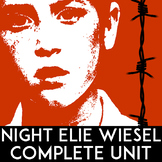 Night Elie Wiesel: Discussion Questions, Worksheets, Close Reading