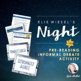 Night, Elie Wiesel: Pre-Reading Informal Debate Activity