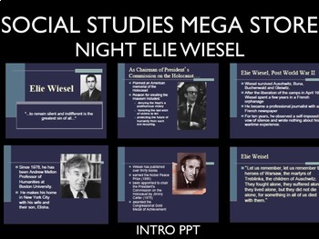 Night Elie Wiesel Quizzes and Journals