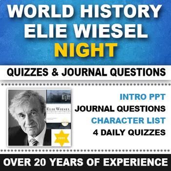 Night Elie Wiesel Quizzes and Journals