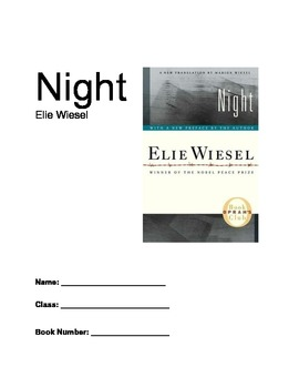 Night - Elie Wiesel - Student Unit Cover Page
