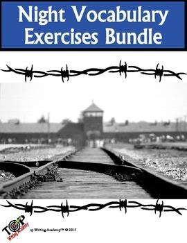 Night Elie Wiesel Vocabulary Exercises Bundle 25 Exercises 10 Quizzes