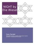 Night Elie Wiesel complete quiz bundle