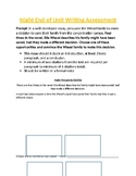Night End of Unit Assessment- Argumentative Paper