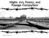 Night Elie Wiesel Close Read, Poetry, Art Theme Activities