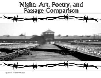 night by elie wiesel activities teaching resources teachers pay   night elie wiesel close poetry art theme activities