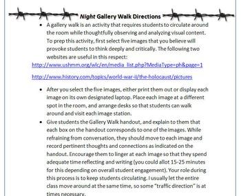 Night Gallery Walk: Writing and Image Analysis for Wiesel's Memoir