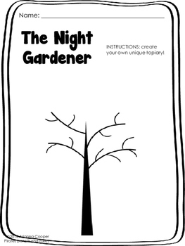 Night Gardener - Reading Extension/Warm Up