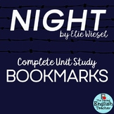 Night Interactive Bookmarks: Questions, Analysis, Vocabulary