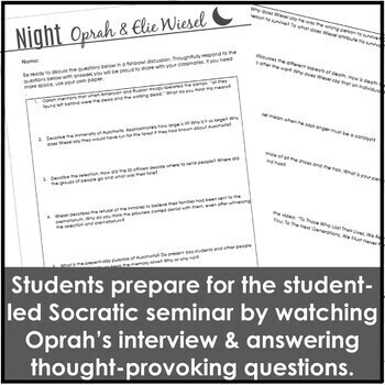 Night Introduction using an Oprah Interview with Elie Wiesel