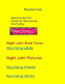 Night John Anticipation Guide and KWHL Chart