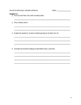Night Journeys by Avi Comprehension Questions
