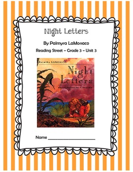 Night Letters CCSS Comprehension Booklet Reading Street Unit 3
