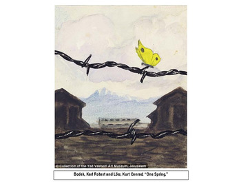 """Night Literary Study, """"Compare/contrast Holocaust art with the text,"""" RL.3.7"""
