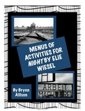 Night by Elie Wiesel - Menus of Questions, Activities Based on Bloom's Taxonomy