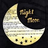 Night Moon Kindergarten Lesson Plan Bundle