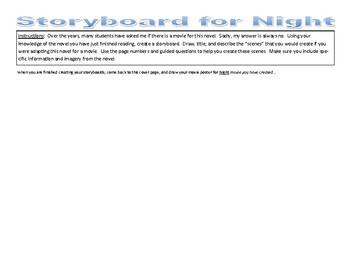 Night Novel Storyboard