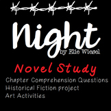 Night by Elie Wiesel Novel Study Unit
