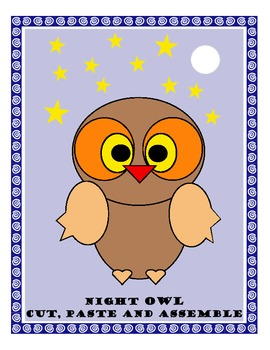 Night Owl Cut & Paste Art Project