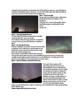 Night Photography Handout