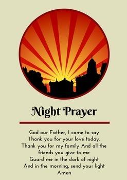 Night Prayer - Prayer Card / Poster