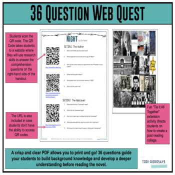 Night QR Code Web Quest