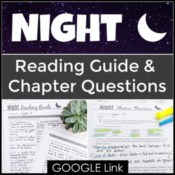 Night Reading Guide with Chapter Questions for Elie Wiesel's Memoir