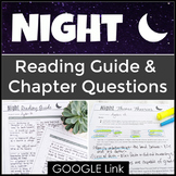 Night Novel Study with Chapter Questions and Quotes for Elie Wiesel's Memoir