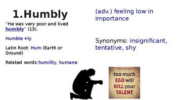 Night Section 1 Vocabulary