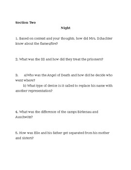 Night Section Questions