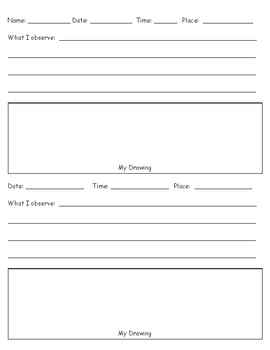 Night Sky Observation Log / Journal / Notebook (Freebie)