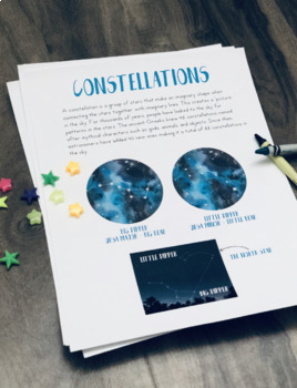 Night Sky Unit - interactive Notebook and Journaling, Great for Homeschool