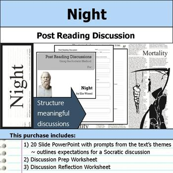 Night by Elie Wiesel - Socratic Method - Post Reading Discussions