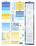 Night Stars - Teacher Planner Weekly Layout Stickers