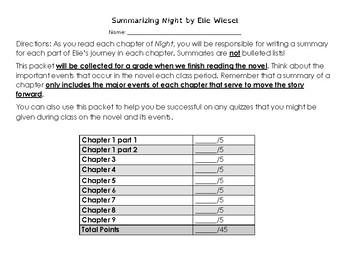 Night Summary Packet
