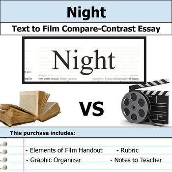 Night - Text to Film - Compare & Contrast Essay Bundle