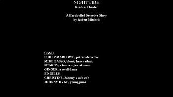 Night Tide - Hardboiled Detective Show PowerPoint