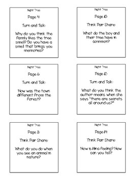 Night Tree Interactive Read Aloud Sticky Note Questions